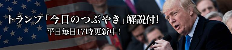 トランプ「今日のつぶやき」解説付!